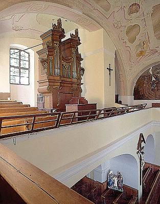 Varhany kostela v Horním Dvořišti