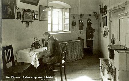 """Tady Josef Seidel zachytil i příbytek """"Turmernazlův"""" v zámecké věži"""