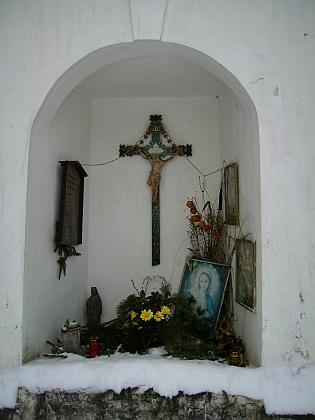 Skříněřovská kaplička v zimě