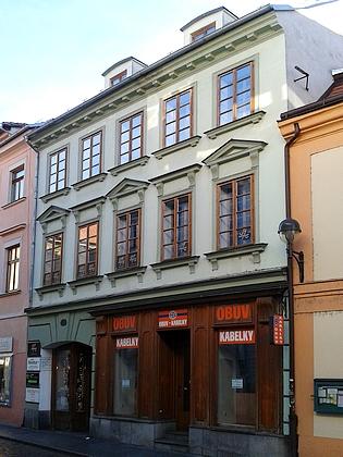 Dům čp. 18 v Kanovnické ulici, kde zemřel