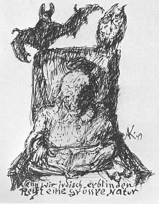 Stařecký autoportrét z roku 1949 k citátu zHanse Carossy