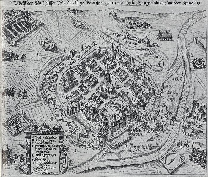 """Roku 1941 se na stránkách reprezentativního časopisu"""" Böhmen und Mähren"""", jehož vydavatelem byl přímo Karl Hermann Frank, objevila Kubitschekova studie o plzeňském němectví a jeho významu pro dějiny Šumavy, provázená dvěma nádhernými rytinami ze 17. století"""