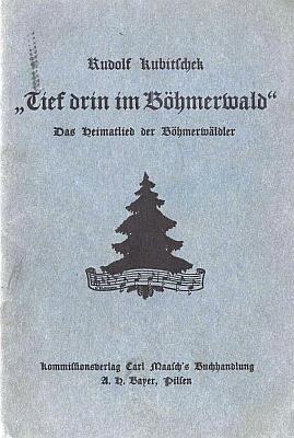 Obálka jeho knihy o Hartauerově písni (1931, Kommissionsverlag CarlMaasch