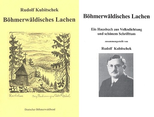 Obálka a titulní list (2003) Franzem Strunzem zpracovaného rukopisu Rudolfa Kubitscheka, který šťastně objevil roku 2001 v prachatickém okresním archívu