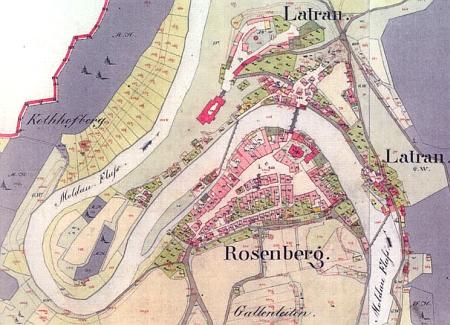 Kubizekova babička z matčiny strany byla selskou dcerou z Rožmberka nad Vltavou, zde zachyceném na tzv. císařském otisku mapy stabilního katastru z roku 1826