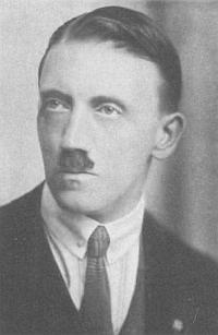 Podobizna mladého Hitlera zKubizekovy knihy
