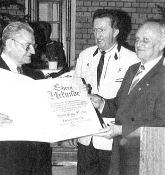 Při udělení čestného členství Bayerischer Wald-Verein vroce1992