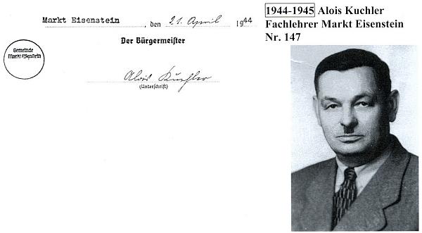 Alois Kuchler byl posledním německým starostou Železné Rudy v letech 1944-1945