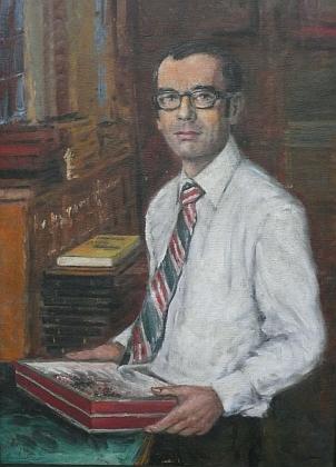 Na portrétu, který namaloval jeho strýc Jan Havel v sedmdesátých letech 20. století