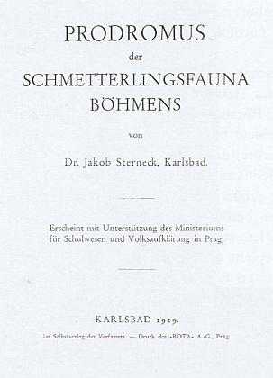 Titulní list Sterneckova díla Padronus