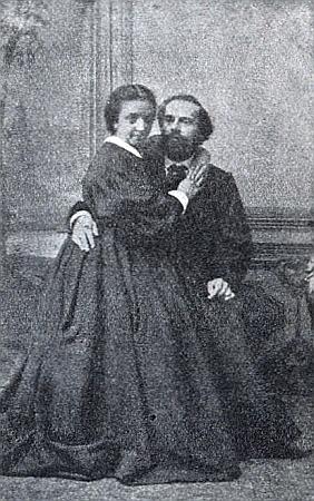 Adele a Emil Kuhovi na snímku ze sbírky, jejímž vlastníkem byl Dr. Bruno Frankl-Hochwart