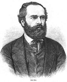 Portrét v Illustrirte Zeitung vznikl pravděpodobně podle fotografie vlevo
