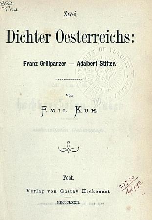 Titulní list jeho knihy (1872)