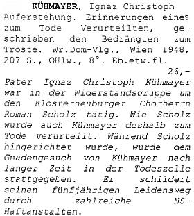 Položka katalogu vídeňského antikvariátu Hanse Jaukera s vysvětlující anotaci