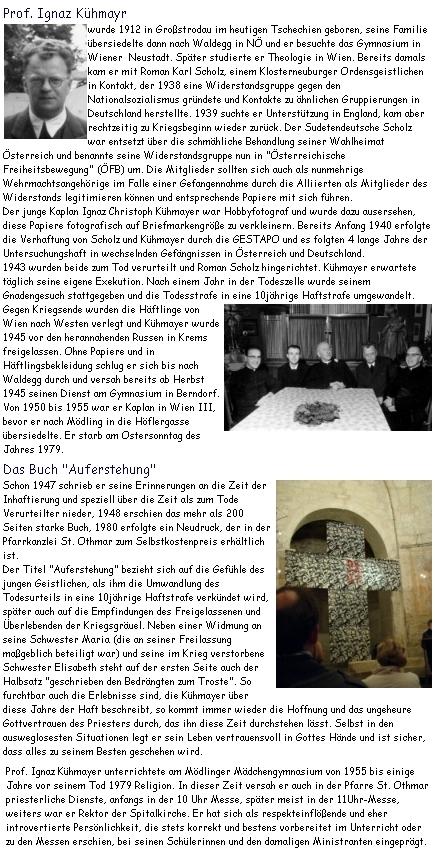 """O jeho životě a díle na webových stránkách """"Kunst im Karner"""", tj. """"Umění v kapli s kostnicí"""")"""