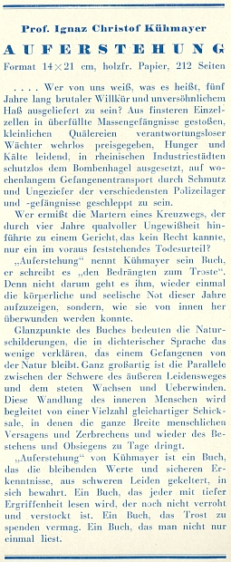 Obálka (1947), záložka a rub titulního listu se značkou nakladatelství (Dom-Verlag) a číslem přídělu papíru - byl tenkrát ve Vídni jistě vzácný