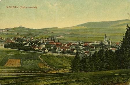 Rodné Nýrsko na pohlednici z počátku 20. století
