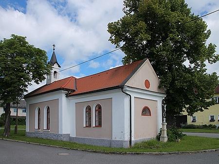 Návesní kaple v Hrabicích dnes