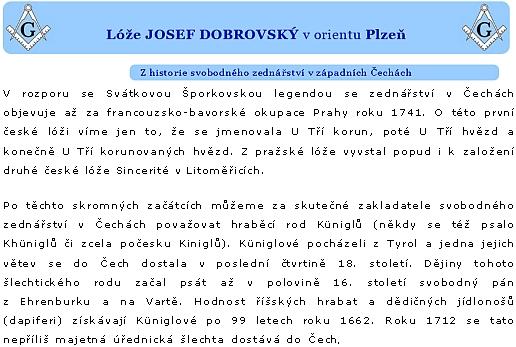 Úvod zednářského textu o jeho rodu (Josef Dobrovský je jedním z autorů, zastoupených na stránkách Kohoutího kříže)
