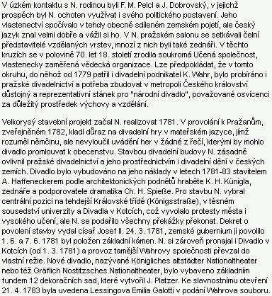 """O hraběti Františku Antonínovi Nosticovi (1725-1794) a jeho projektu """"národního divadla""""     v Praze za Küniglova """"architektonického podnětu"""""""