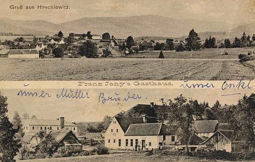 Hašlovice na pohlednici Josefa Seidela