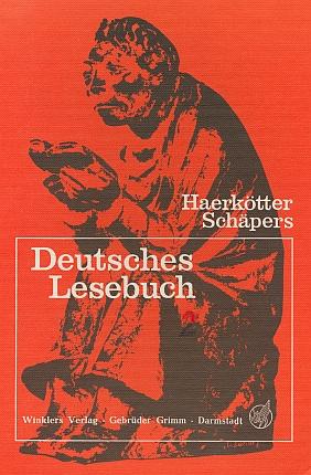"""V této německé čítance nakladatelství Winklers v Darmstadtu (1979), na jejíž obálce figuruje socha sedícího čtenáře od Ernsta Barlacha, je mezi německýmu """"klasiky"""" i on se svou básní """"Konec umění"""""""