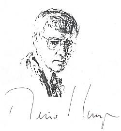 Grafika s podpisem z plakátu k autorskému čtení na Jihočeské univerzitě 21. 4. 1997