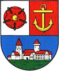 Znak města Riesa, kde je pochován