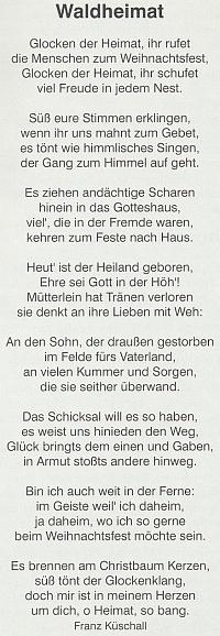 """Tady otiskl ještě roku 2000 jeho vánoční báseň """"Glocken der Heimat"""" krajanský měsíčník mylně pod názvem českobudějovického periodika, ve kterém se objevila už v roce 1928"""