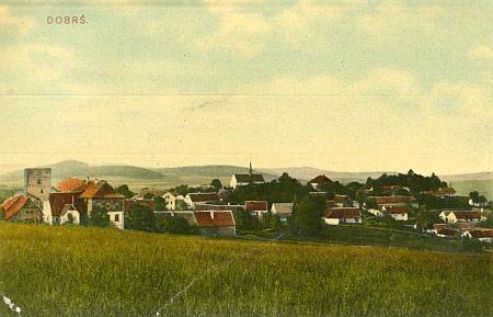 Dobrš na pohlednici z roku 1906