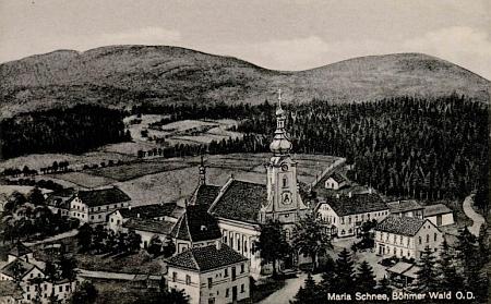 Jedno z nejvýznamnějších jihočeských poutních míst Svatý Kámen u Rychnova nad Malší, jak vyhlíželo kdysi
