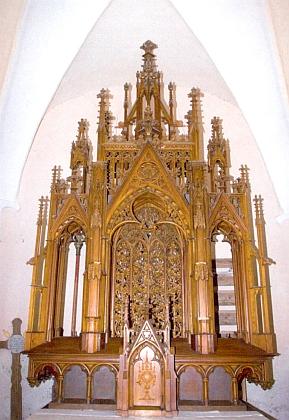 Mistrovské dílo řezbáře Rinta v kapli sv. Erazima