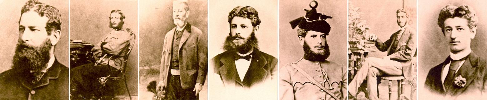 Sedm jeho synů: Gustav Vilém, Bedřich, Karel, Hubert, Eduard, Hugo a Josef