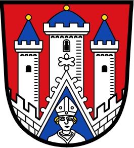 Znak bavorského města Bischofsheim an der Rhön (Rhön je název pohoří)