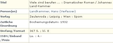 Záznam jedné z jeho knih v katalogu Německé národní knihovny