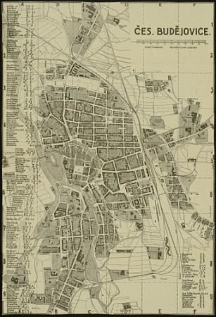 Jím signované plány Českých Budějovic - německý z roku 1911 a český již z časů republiky (klikněte sem pro digitalizovaný plán 1911 a 1930)