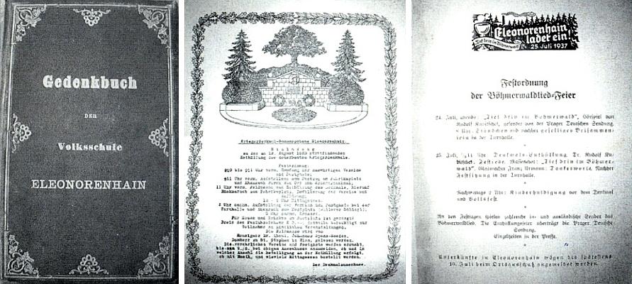 Památník německé obecné školy v Lenoře, uchovávaný v prachatickém archívu, obsahuje i pozvánku k odhalení místního pomníku padlých v srpnu 1923 a také k šumavské slavnosti v červenci 1937 při příležitosti odhalení Hartauerova památníku (viz Andreas Hartauer), kde byl slavnostním řečníkem Dr. Rudolf Kubitschek