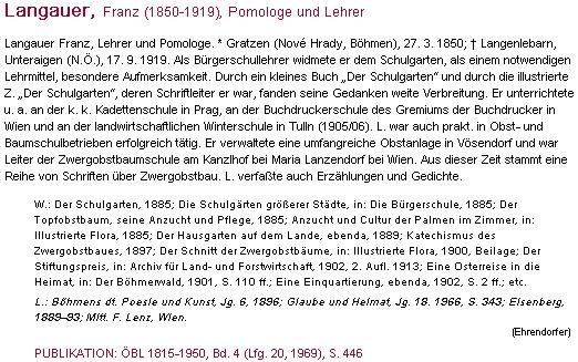 O něm v rakouském biografickém slovníku