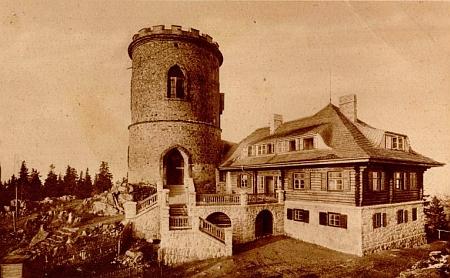 ... a ještě na pohlednici firmy Bömerwaldverlag Josef Seidel z roku 1927 i s Tereziinou chatou