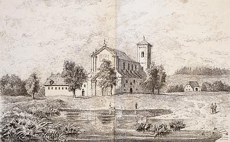 Klášter u Nové Bystřice na starém vyobrazení