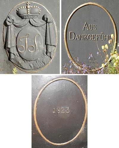 Kříž na Jeleních Vrších dodnes připománá knížecí cestu z roku 1823