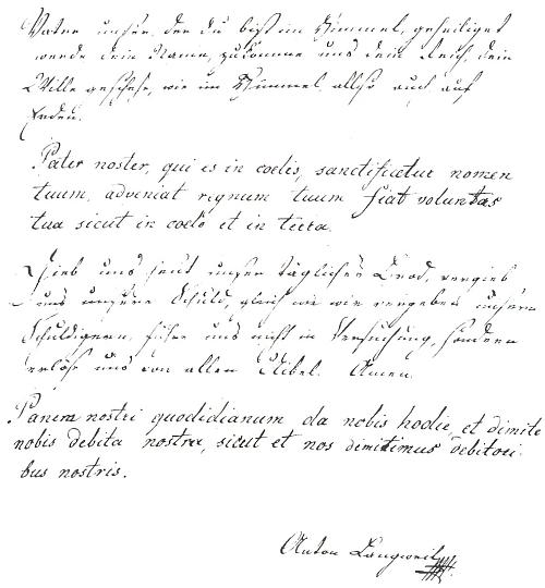 Jeho zkouška písma při konkurzu do pražské Univerzitní knihovny