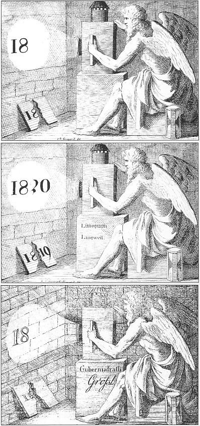 Novoročenky z jeho pražské litografické dílny