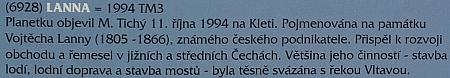 """""""Plotová výstava"""" u českobudějovické hvězdárny v roce 2020 připomněla i planetku, která je po Adalbertu Lannovi pojmenována"""