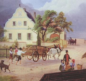 """""""Ten malý domek na vltavském břehu..."""" - rodný dům Adalberta Lanny v Českých Budějovicích, postavený už koncem 18. století za jeho otceThaddäuse"""
