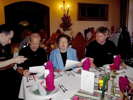 Se ženou a synem Wilfriedem na setkání nositelů příjmení Lausecker v Českém Krumlově z května 2005