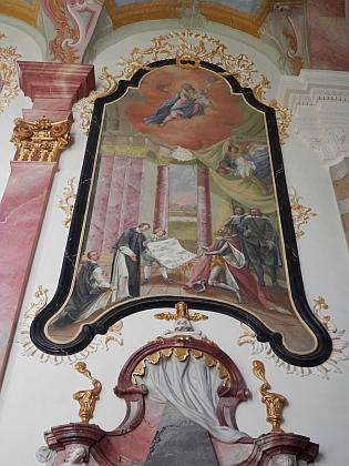 Kenotaf Bavora III., významného donátora kláštera ve Zlaté Koruně, ve zlatokorunském klášterním kostele Nanebevzetí Panny Marie vytvořil vletech 1771-1772 na objednávku opata Bylanského sochař Jakub Eberle