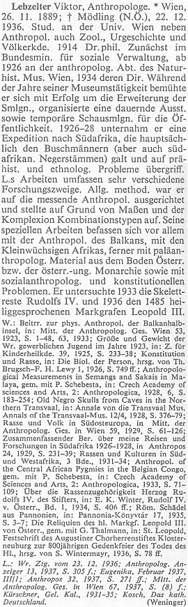 Jeho heslo v rakouském biografickém lexikonu