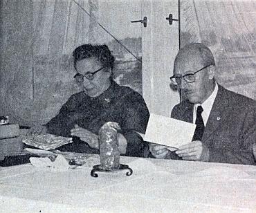 S manželkou Hedwig v pokročilém věku