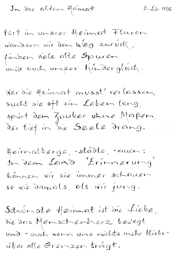 Rukopis její básně je datován rokem 1996